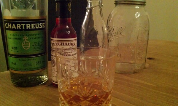 Deauville - a reformulation of the Sazerac featuring Chartreuse in place of Absinthe